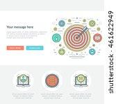 flat line business concept... | Shutterstock .eps vector #461622949