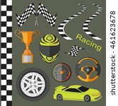 car race icons set | Shutterstock .eps vector #461623678