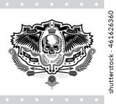 skull front view without a... | Shutterstock .eps vector #461626360