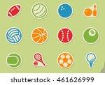 sport balls vector icons for... | Shutterstock .eps vector #461626999