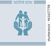 family life insurance sign icon.... | Shutterstock .eps vector #461627758