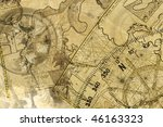 ancient nivigation  ships  maps ... | Shutterstock . vector #46163323