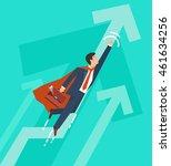 businessman in a suit superhero ... | Shutterstock . vector #461634256