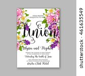 wedding  invitation or card ... | Shutterstock .eps vector #461635549