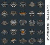 set of vintage retro logotype... | Shutterstock .eps vector #461635744