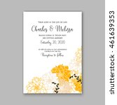 wedding  invitation or card ... | Shutterstock .eps vector #461639353