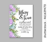 wedding  invitation or card ... | Shutterstock .eps vector #461639470