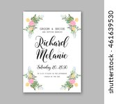 wedding  invitation or card ... | Shutterstock .eps vector #461639530