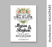 wedding  invitation or card ... | Shutterstock .eps vector #461639683