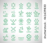 people network icons set  ... | Shutterstock .eps vector #461639830