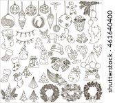new year  vector  sketch | Shutterstock .eps vector #461640400