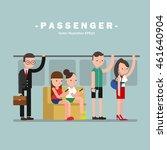 passenger vector | Shutterstock .eps vector #461640904