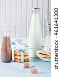 cookies  milkshakes  and gifts... | Shutterstock . vector #461641300