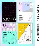 party invitation or poster... | Shutterstock .eps vector #461642458