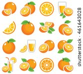 orange fruit icon collection  ... | Shutterstock .eps vector #461643028