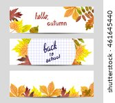 set of colorful autumn banners... | Shutterstock .eps vector #461645440