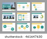 set of turquoise and orange... | Shutterstock .eps vector #461647630