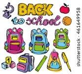 back to school big doodles set. ... | Shutterstock .eps vector #461649958
