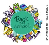 back to school big doodles set. ... | Shutterstock .eps vector #461650078