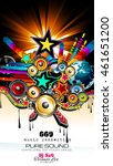 club disco flyer template with...   Shutterstock . vector #461651200