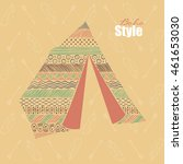 hand drawn decorative tent in... | Shutterstock .eps vector #461653030