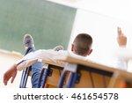 adolescent in classroom | Shutterstock . vector #461654578