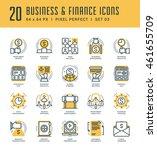 line icons set. trendy modern... | Shutterstock .eps vector #461655709