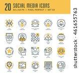 line icons set. trendy modern... | Shutterstock .eps vector #461655763