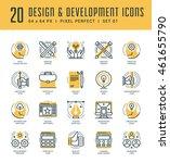line icons set. trendy modern... | Shutterstock .eps vector #461655790