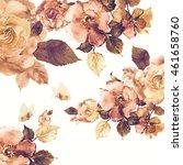 watercolor roses  roses hips... | Shutterstock . vector #461658760