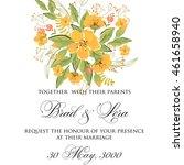 wedding invitation | Shutterstock .eps vector #461658940