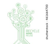 ecology infographic. recycle ... | Shutterstock .eps vector #461664700