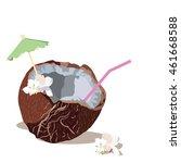 fresh coconut vector isolated.... | Shutterstock .eps vector #461668588