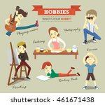 hobbies  free time and lifestyle | Shutterstock .eps vector #461671438