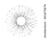 sun engraving vector... | Shutterstock .eps vector #461673676