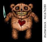 horror murder teddy bear with... | Shutterstock . vector #461676280