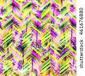 palm trees pattern seamless.... | Shutterstock . vector #461676880