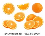 orange collection isolated on... | Shutterstock . vector #461691904