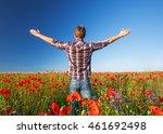 man on a beautiful field | Shutterstock . vector #461692498