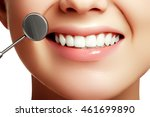 woman's smile. healthy white... | Shutterstock . vector #461699890