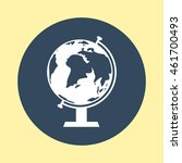 web icon of globe. | Shutterstock .eps vector #461700493
