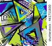 abstract seamless chaotic... | Shutterstock .eps vector #461711830