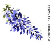 watercolor wisteria flower... | Shutterstock . vector #461712688