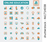 online education icons | Shutterstock .eps vector #461714038