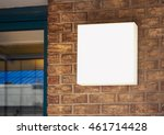 signage shop mock up light box...   Shutterstock . vector #461714428