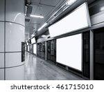 billboard banner signage mock... | Shutterstock . vector #461715010