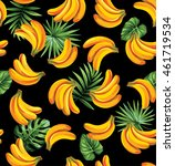 seamless pattern with tropical... | Shutterstock .eps vector #461719534