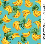 seamless pattern with tropical... | Shutterstock .eps vector #461719630