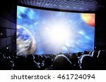 cinema. the audience in 3d... | Shutterstock . vector #461724094