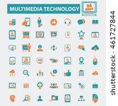 multimedia technology icons | Shutterstock .eps vector #461727844